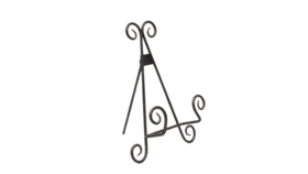 "Image of a Easel - 9"" Black Scroll"
