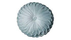 Image of a Cushion - Round, Dusty Blue Velvet