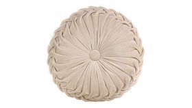 Image of a Cushion - Round, Champagne Velvet