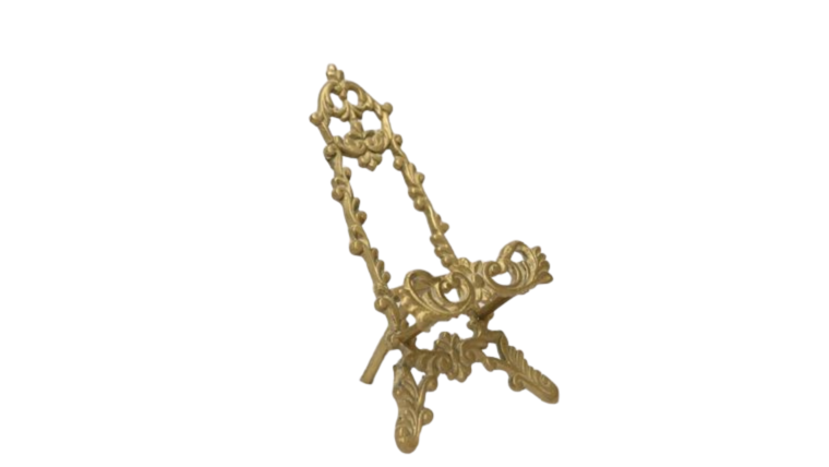"Picture of a Easel - 7"" Gold Ornate"