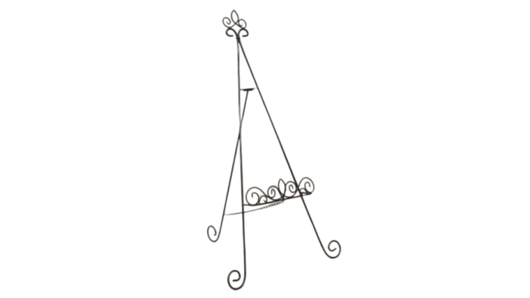 "Picture of a Easel - Floor or tabletop 33"" Wrought Iron Fleur de lis"