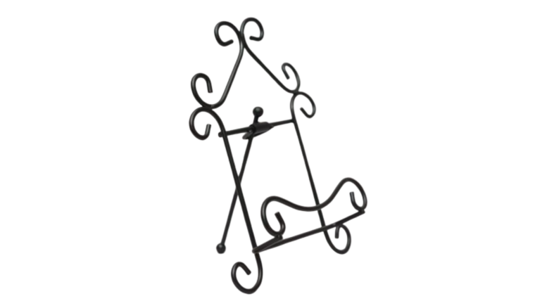 """Picture of a Easel - 7.5"""" Curly Black Scroll"""
