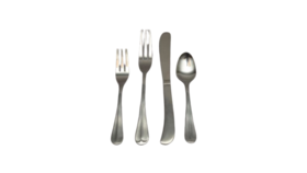 Image of a 4 piece flatware set