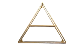 Image of a Display Shelf - Triangle Gold Metal