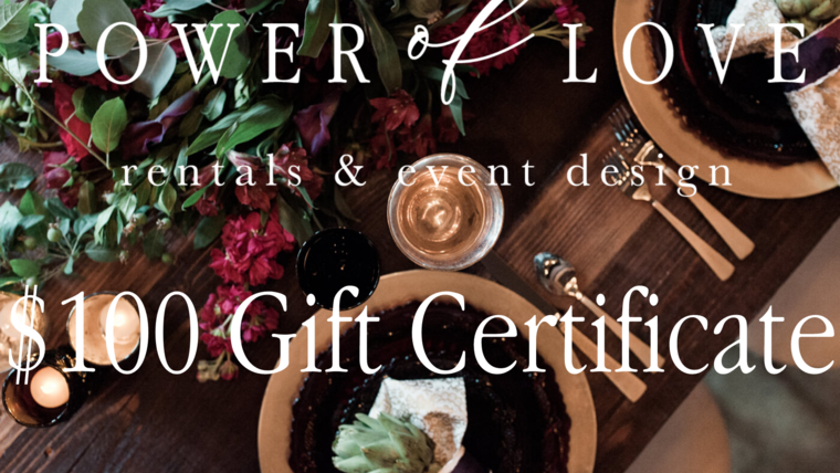 Picture of a $100 Gift Certificate
