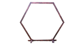 Image of a Arbor - Wooden  Single Hexagon, 9 ft. wide, 8 ft. tall