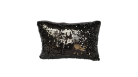 "Image of a Accent Pillow - Lumbar - Charcoal Gray Sequin, 10"" x 16"""