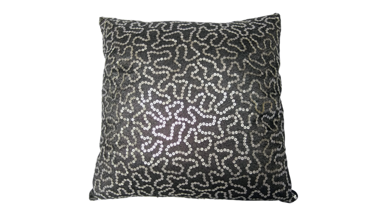 """Picture of a Accent Pillow - Gray and Silver Sequin, 14"""" x 14"""""""