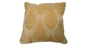 "Image of a Accent Pillow - Yellow and Cream Shimmer, 18"" x 18"""