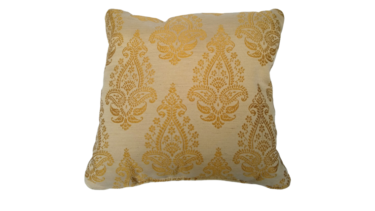"""Picture of a Accent Pillow - Yellow and Cream Shimmer, 18"""" x 18"""""""