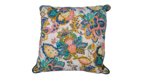 "Image of a Accent Pillow - Bright Floral Boho, 18"" x 18"""