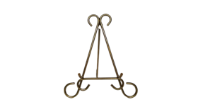 "Image of a Easel - 10.5"" Gold Scroll"