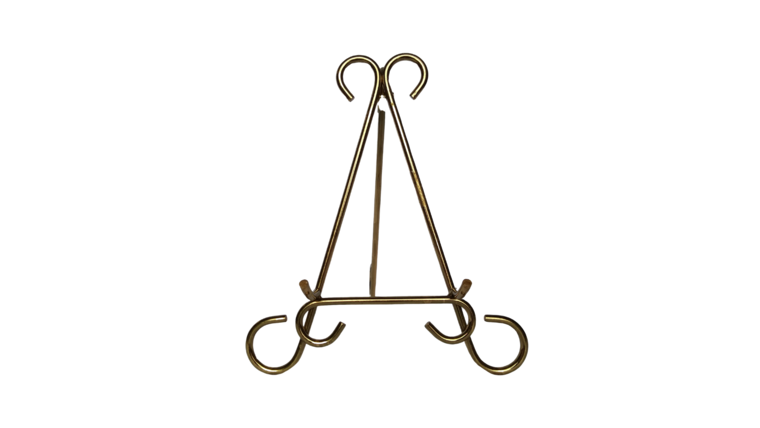 """Picture of a Easel - 10.5"""" Gold Scroll"""