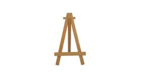 """Easel - 5"""" Wood image"""