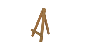 "Image of a Easel - 5"" Wood"