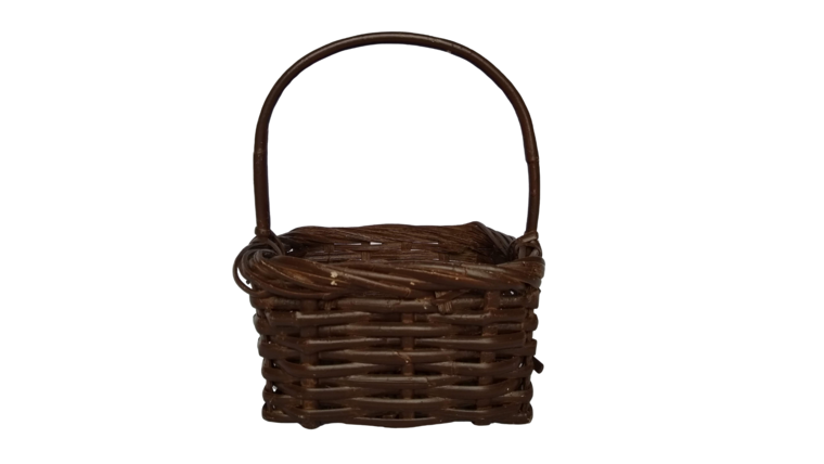 """Picture of a Basket - Dark Brown, 8"""" Square"""