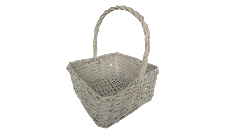 "Picture of a Basket - White, 11.5"" Square"