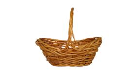 """Image of a Basket - Natural Color, Boat shape, 9"""" x 13"""""""