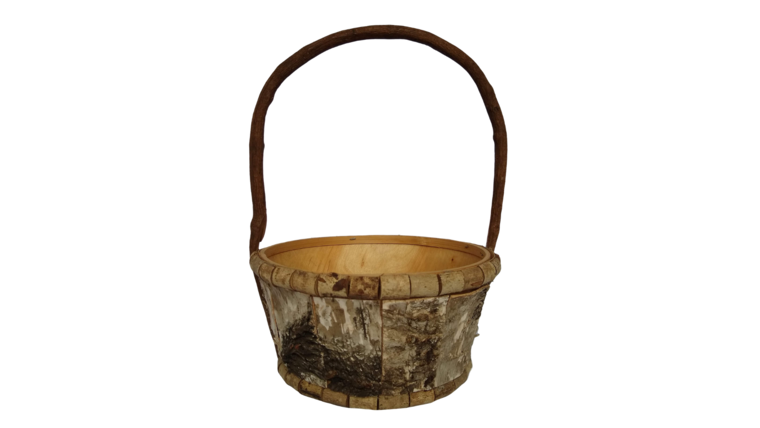 """Picture of a Basket - Bark, 8.5"""" diameter"""
