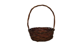 "Image of a Basket - Dark Brown Oval, 9.5"" x 8"""