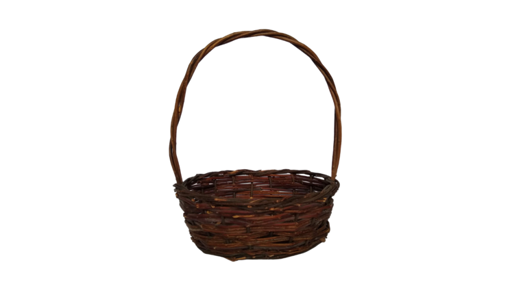 "Basket - Dark Brown Oval, 9.5"" x 8"" : goodshuffle.com"