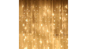Image of a Fairy Lights Curtain, Warm White - 10' x 10'
