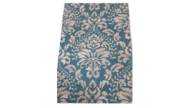Image of a Accent Rug- Ornate Teal, 2.5 ft x 4 ft