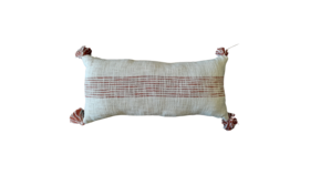 Image of a Accent Pillow - Lumbar - Rust and neutral striped