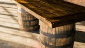 Image of a Bourbon Barrel 8ft Bar