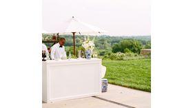 Image of a White Wood Wedding Bar