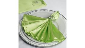 "Image of a 20"" Apple Green Satin Napkin"