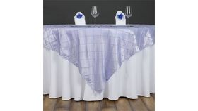 """Image of a 60"""" Square Pintuck Overlay - Lavender"""