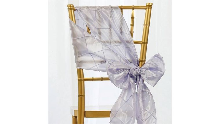 Picture of a Lavender Pintuck Chair Sash