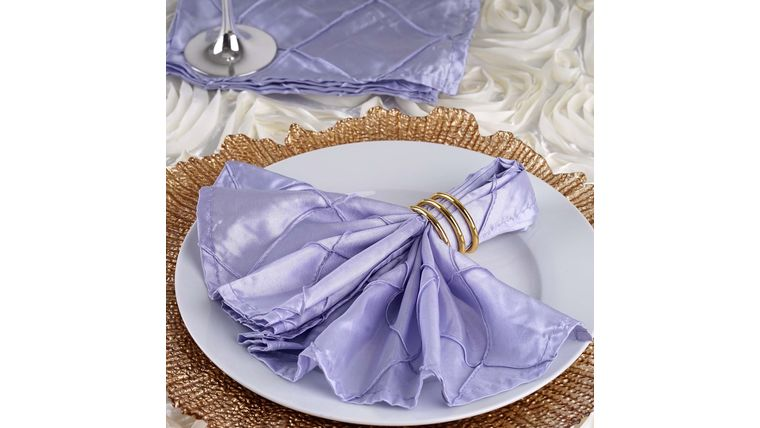 """Picture of a 17"""" Lavender Pintuck Napkin"""