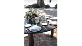 """Image of a 40"""" Round Farm Table"""