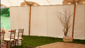 Image of a 20ft Sperry Tent Solid Sidewalls