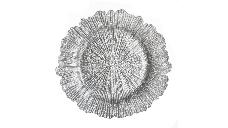 Picture of a Silver floral charger plates