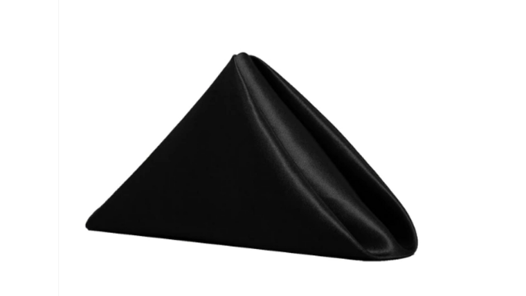 Picture of a 20 x 20 in Black Satin Napkins