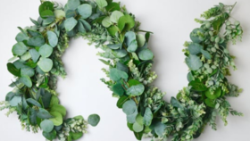 Image of a 5 - 6 Ft Faux Garland with floral