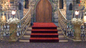 Image of a Railing and Return Gold for Stairs