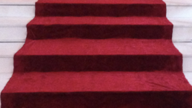 Image of a Carpet for Stairs Red Stairs