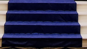 Image of a Carpet for Stairs Blue Stairs