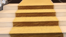Image of a Carpet for Stairs Gold Stairs