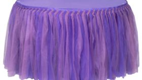 Image of a Tulle Tutu 21ft Table Skirt  Purple Lavender