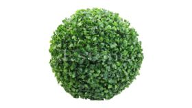 Image of a Green Artificial Boxwood Ball 16""