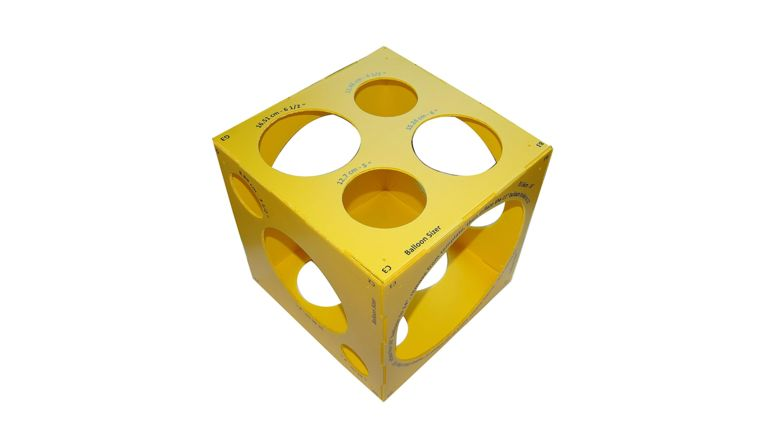 """Picture of a 13 Holes Collapsible Plastic Cube Balloon Sizer Box From 3"""" - 14"""""""