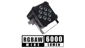 Image of a LIGHTING 5 IN 1 BATTERY POWERED, WIRELESS DMX FLAT LED LIGHT