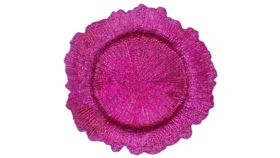 Image of a Fuchsia Acrylic Plastic Charger Plate