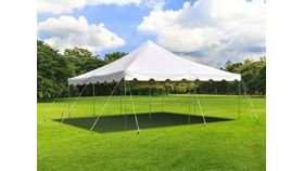 Image of a 20 ft by 20 ft White Canopy Tent