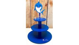 Image of a Baby Shark Cupcake Stand Blue